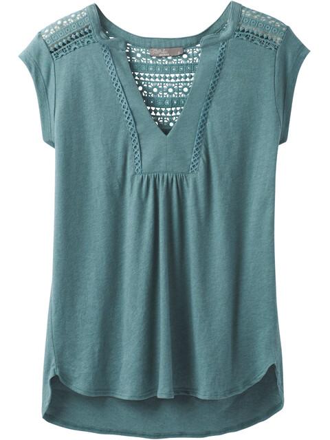 Prana Yvonna - T-shirt manches courtes Femme - Bleu pétrole